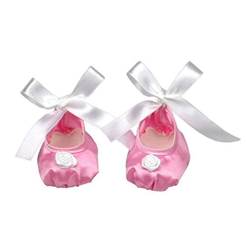 Schuhe für Puppe, BZLine® Glitter Doll Shoes Ballettschuhe für 18-Zoll Girl Doll (Pink) (Weiß Kleinkind Ballettschuhe)