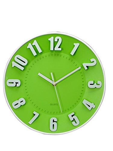 Basement Bazaar Precise Plastic Wall Clock (4.6 cm x 30.5 cm x 30.5 cm, Green)