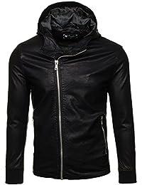 BOLF – Veste sans capuche – Faux cuir – Fermeture éclair – FEIFA FASHION 9110 Homme [4D4]