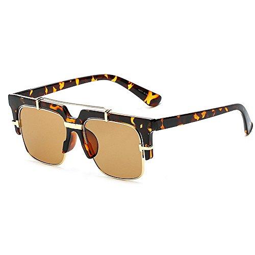 Polarisierte Sonnenbrille für Frauen Männer Vintage Designer Sonnenbrille für Urlaub Reisen, UV400 Schutz (Color : Gray)