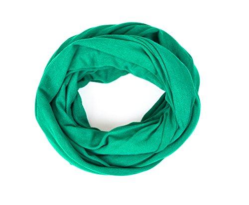 Kinder - Loop uni smaragdgrün für Kinder und Jugendliche, Kids Schlauchschal, Schal Tuch für Mädchen und Jungs handmade (Kind Kleidung Lust)