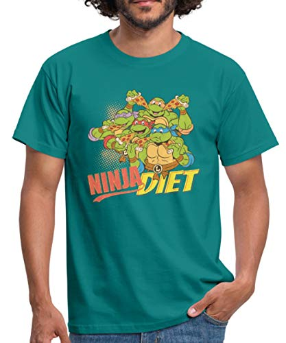 tles Ninja Diet Pizza Männer T-Shirt, M, Divablau ()