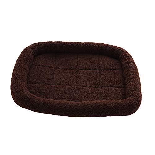 ZHAOXUAN Herbst und Winter Neue Hundezwinger Zwinger Winter Hund Pad kleinen und mittleren Hund warmen Wurf wirken warme Kissen Brown 40 * 30cm