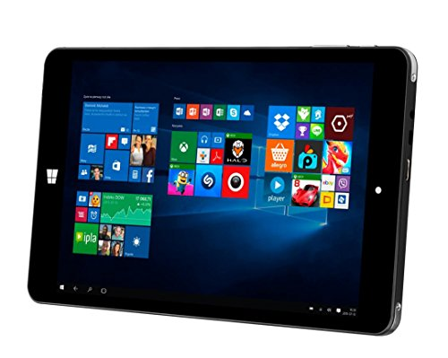 Pc 8 Windows Tablet (Kiano 311500 20,32 cm (8 Zoll) Tablet-PC (Intel Atom, 2GB RAM, Intel HD Graphics, Win 10) schwarz)