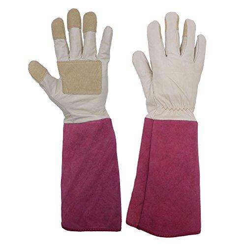 Rose Beschneiden Gartenhandschuhe für Herren und Damen, Thornproof lang Stulpenhandschuhe,...