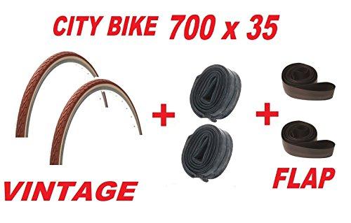 2 x Copertoni 700 x 35 VINTAGE/CLASSIC City Bike + 2 x CAMERE + 2 x FLAP
