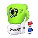 SYOSIN 4 oz pour Enfants Gants de Boxe Junior Gants MMA Muay Thai Kickboxing Junior Gant Sparring Trainning Punching Bag Unisexe (3 à 13 Ans)