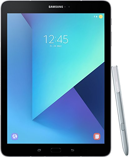 Produktbild Samsung Galaxy Tab S3 T820 24,58 cm (9,68 Zoll) Touchscreen Tablet PC (Quad Core 4GB RAM 32GB eMMC WiFi Android 7,0) silber inkl S Pen