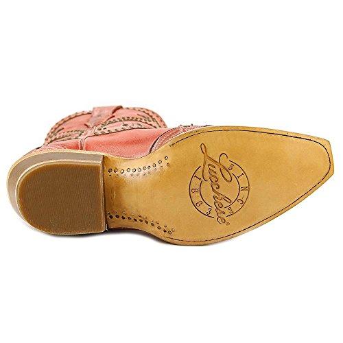 Lucchese  M4976, Bottes et bottines cowboy femme rose bonbon