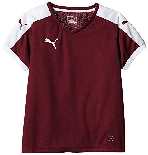 Puma Unisex-Kinder T-Shirt Pitch, Team Burgundy/White, Gr. 13-14 Jahre (Herstellergröße: 164) (Mesh-einsatz Ausschnitt)