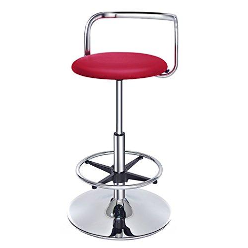 Unbekannt Guo Shop- Kunstleder Barhocker, Swivel Bar Bar Cafe europäischen Stuhl Sitzhöhe 71-95cm Guter Stuhl (Farbe : Rot) -