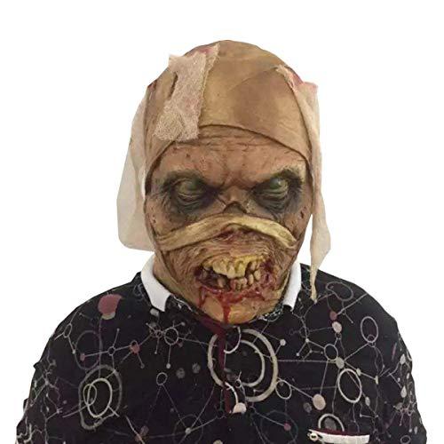 Xiao-masken Halloween Mumien Zombie Geister Maske Latex Blutig Unheimlich Extrem Ekelhaft Heikles Vollgesichtsmaske Erwachsenenmaske Kostüm Party Cosplay Prop