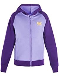 Logo CCC de Canterbury fille Princesse Coutures Zip Grâce à capuche – Pop Violet Magic/Orange/Violet Hebe, Taille 14