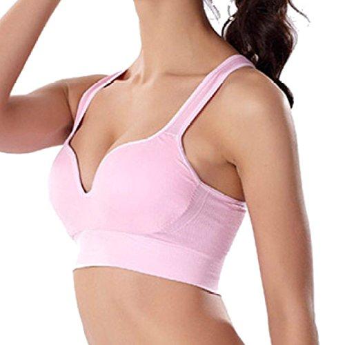 Intimo Sportivo Senza Cuciture Senza Acciaio Sottile Jogging Maglia Antiurto Yoga Raccogliere Reggiseno Pink