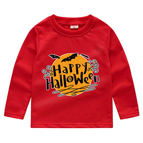 Party Kostüm Batman Stadt - Romantic Kinder Baby Jungen Halloween Kostüme Lange Ärmel Bat/Kürbis/Brief Gedruckt T-Shirt Schickes Kürbis Kostüm Top Sweatshirts für Karneval Party Halloween Fest