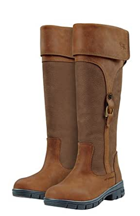 Dublin Turndown Long Leather Boots-Brown 4