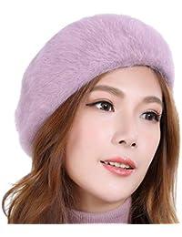 FORTR Home Autunno e Inverno Cappello di Pelliccia di Coniglio Selvatico  Femminile Versione Coreana del Cappello 10ed701b3cfd