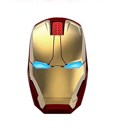 Nuevo Iron Man ratón inalámbrico Ratón Gaming ratón gamer botón Mute...