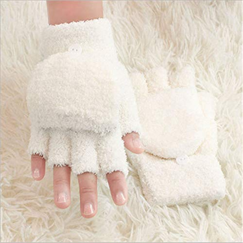 NIGHT WALL USB-Wiederaufladbare Handschuhe, warme Winterhandschuhe für Damen und Herren, weiß - Rücken Heizkissen Wiederaufladbare