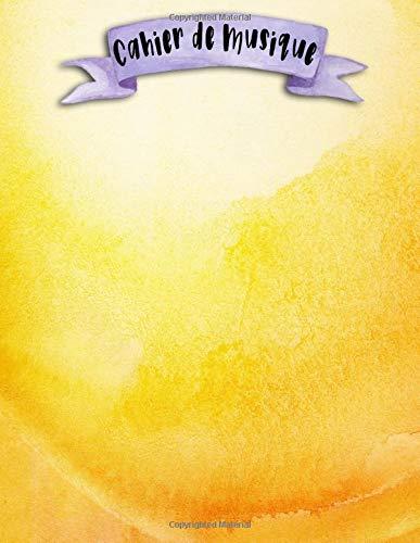 Cahier de Musique: A4 - 108 pages - 12 portées par pages - Aquarelle - Marbre - Fleurs - Encre - couverture souple glossy - musicbook watercolor, marble and flowers - chant - musicien - compostion par Mes Notebooks Licorne