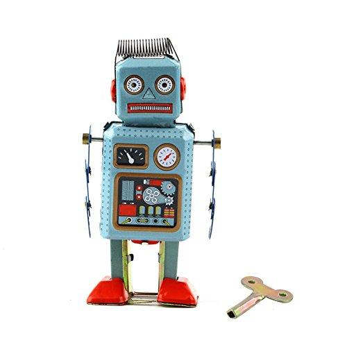 yeshi Cute Vintage mechanische Uhrwerk Aufzieh Spielzeug Metall Walking Roboter Spielzeug Kinder - Walking-spielzeug-roboter