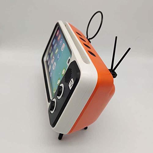 qiyanWireless Bluetooth Haut-Parleur Portable Stéréo Boîte de Son avec Support Micro Mains Libres TF Carte U Disque Porte-Téléphone Rétro-en Portable Haut-Parleur Orange