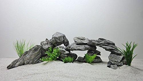 Pro STÜCK Aquarium Deko Natursteine in grau Nr.68 Dekoration Steinrückwand Steine Felsen