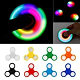 #10: Led Spinner With Light Toy Stress Focus Toy Relieves Boredom Guarantee 2 min + Spin Time! Colour May Vary By ORANGE CREATIONS