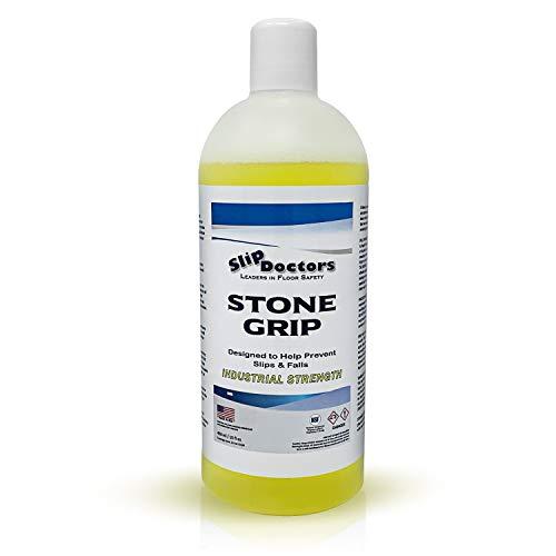Stone Grip Trattamento Antiscivolo per la Sicurezza dei Pavimenti Esterni e Interni, scale, docce, bordo piscina, bagni - Prevenzione delle cadute accidentali - Pronto all'uso - da 3.5 m² a 5 m²