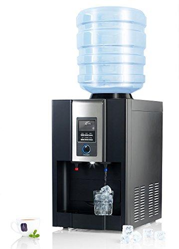 Rosenstein & Söhne Kaltwasserspender: Heiß-Kalt-Wasserspender & Eiswürfelbereiter HKE-700 (Eiswürfelmaschine)
