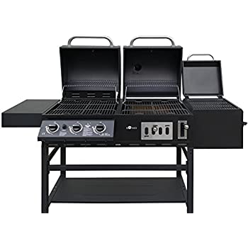 kombigrill gasgrill und holzkohlegrill cherokee von el fuego grill smoker bbq garten. Black Bedroom Furniture Sets. Home Design Ideas