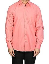 Muga chemise manches longues, Salmon orange