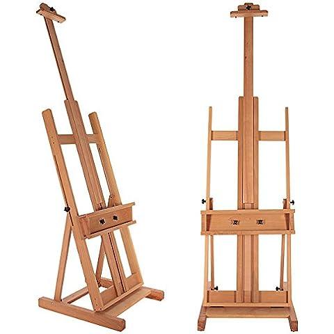 ARTINA® Cavalletto pittorico Toulouse - cavalletto studio - legno massiccio di faggio - tele fino a 218cm - richiudibile