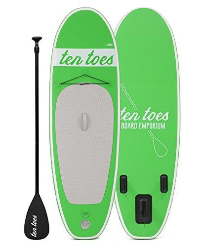 Ten Toes Board Emporium Nano aufblasbares Stand-Up-Paddelboard - Grün, Small/20,32 cm
