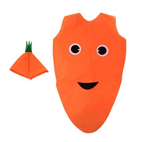 B Baosity Kinder Kostüm Cosplay Verkleidung Tierkostüm Obst Kostüm Foto Outfits Kostüm Kleidung - Karotte