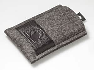 Wolfsrudel Samsung Galaxy S3 Tasche - Grau Meliert (Natur Filz S3 Hülle)