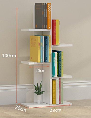 6-tier-bücherregal (TH Einfache Buch Regale Boden Landung Boden Lagerung Wohnzimmer Lagerung Regale Student Bücherregal Kinder Regale ( Farbe : Weiß , größe : 6-tier ))