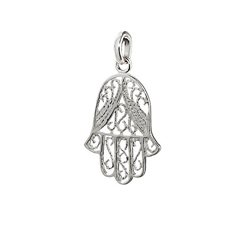 NKlaus 925 Sterling Argent Pendentif Main de Fatima/Eye of Fatima Charm 19 x 15 mm 5022