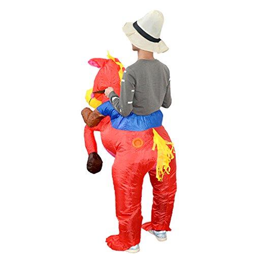 Sharplace Halloween Erwachsene aufblasbare Pferd Reiter Hosen Party Kostüm Lustige Kleid