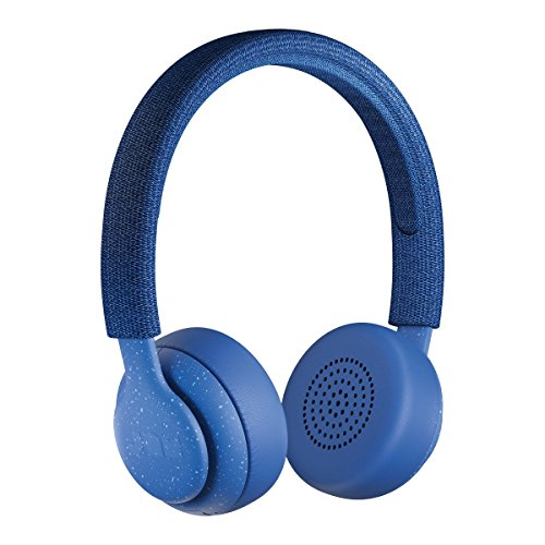 Jam Been There On-Ear Bluetooth Headphones, 40mm Drivers, 14 Hour Playtime, 10 Metre Range, Hands Free Calling, IPX4 Sweat and Rain Resistant, Light Weight, Natural Open Sound - Blue Best Price and Cheapest