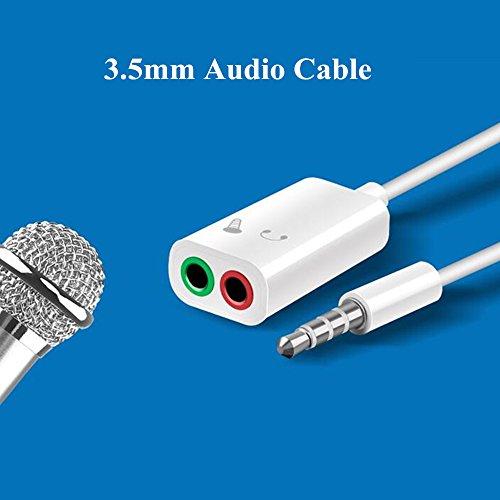 Awanka Audio Splitter with Microphone, 3 5mm Male to 2 Dual