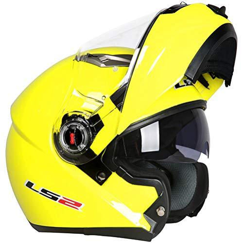 Caschi moto Flip Up Motocross a doppia lente Abs Materiale Casco moto Mountain Mountain Classic Anti-collisione Casco da corsa modulare 23 Colori opzio