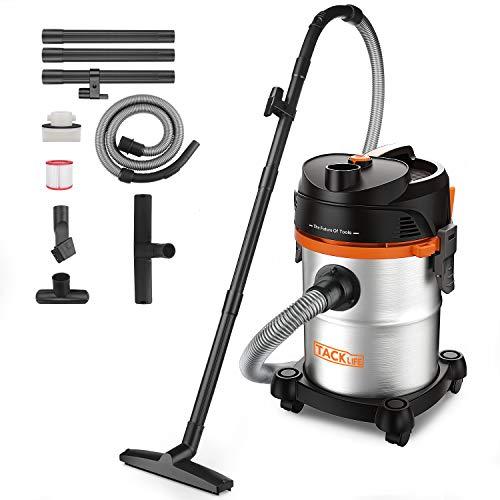 TACKLIFE Aspirateur eau et poussières, 18.5Kpa 1200W 20 L, Aspirateur Inox Sans Sac, Aspirateur souffleur puissant, idéal pour la Maison, le Garage et le Jardin