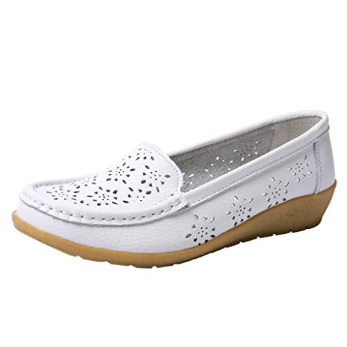 ZEELIY ☀ Damen Sommer Schuhe Slippers ☀ Damenschuhe Moderne Halbschuhe Espadrilles Übergrößen Flache Stoffschuhe 2019 Mode -runde Zehe-Hohle