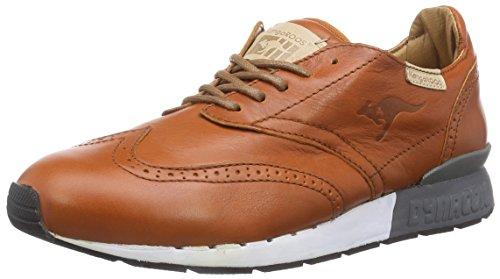 Kangaroos Leder-sneaker (KangaROOS Herren Coilybrid Sneakers, Braun (Cognac 360), 46 EU)