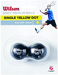 Wilson Balle de squash Intérieur, 2 Balles, Staff Squash, Noir