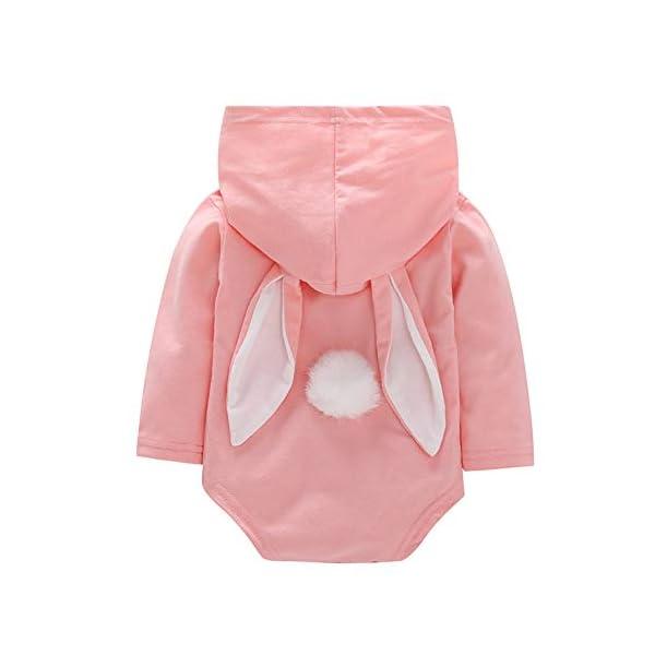 Fairy Baby Baby Girls Easter Bunny Disfraz Jumpsuit Ear Body con Capucha Ropa Linda del Equipo 2