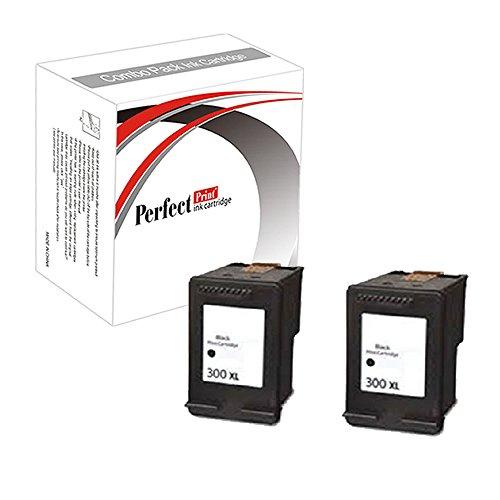 2wiederaufbereitete Tonerkartuschen ersetzen 300X L Tintenpatrone schwarz für HP DeskJet D1660D2560D2660D5560F2420F2423F2430F2476F2480F2483F2488F2492F2493F4210F4272F2492F4280F4580F4224Photosmart C4610C4640C4650C4670C4680C4780C4680C4683C4685C4688C4740C4780C47