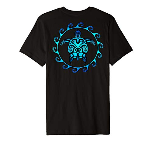 Tribal Hawaiian Maori Sun Sea Turtle Island T-shirt