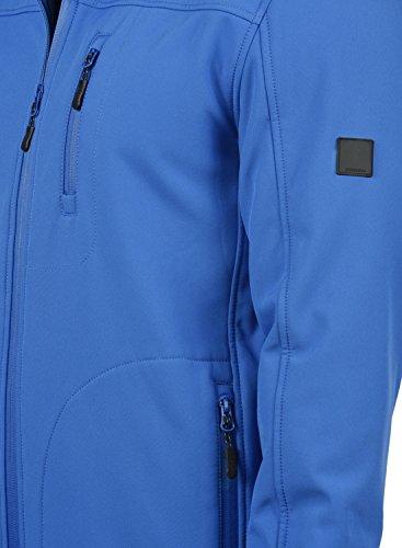 INDICODE Deegan Herren Übergangsjacke Softshell Jacke mit Kapuze aus hochwertiger Materialqualität Cobalt